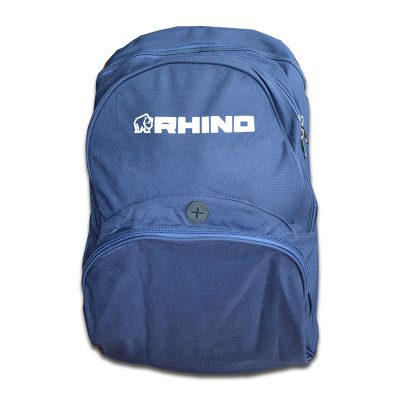 Rhino Club Backpack. For team players and clubs. Can be customised.