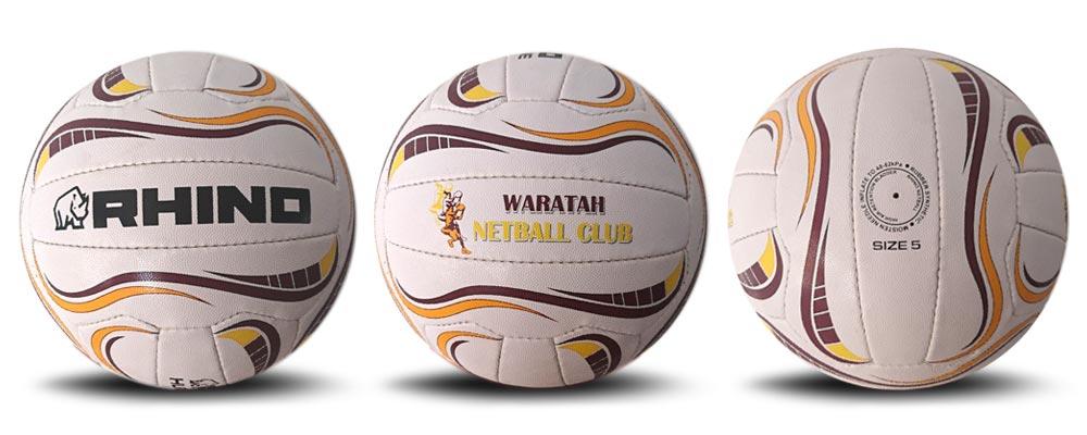 Waratah custom netballs