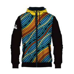 Rhino hoodie zip sublimated SUB