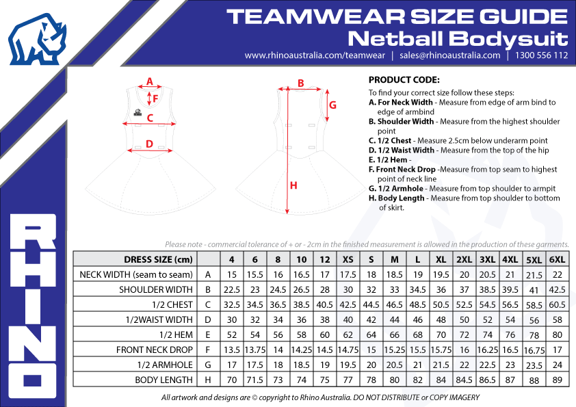 Netball-Bodysuit-Sizing-Guide