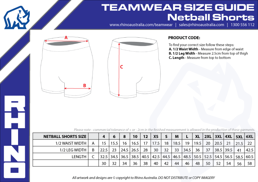 Netball-Shorts-Sizing-Guide